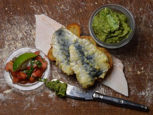 Sardines au beurre de basilic, sardines, beurre de basilic, basilic