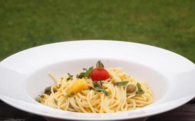 spaghetti à l'ail et aux citrons confits, ail, citrons confits, La Voix du Nord, La Cocotte