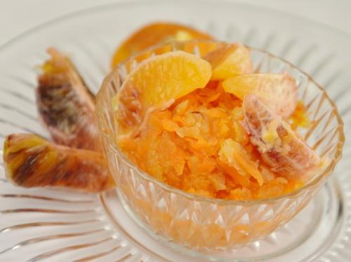 Orange compote, orange, pommes, carottes