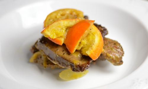 Foie de bœuf aux agrumes, foie de boeuf, oranges, citrons