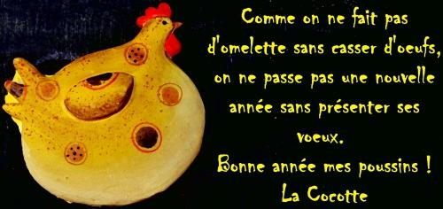 bonne année, voeux 2014, La Cocotte