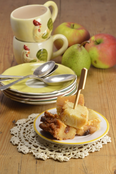 Pudding moelleux pommes-poires, pudding, pommes, poires