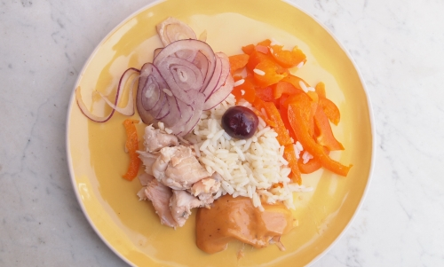 salade de riz à la truite, riz, truite