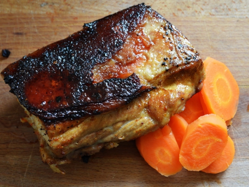 Carré de porc-carottes, caré de porc, carottes