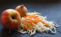 coleslaw, chou blanc, carotte, oignon, pomme
