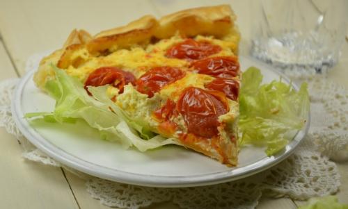 Ricotta tarte aux tomates-cerises, ricota, tomates-cerises, tarte