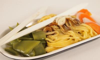 nouilles chinoises aux trois légumes, nouilles chinoises, nouvel an chinois