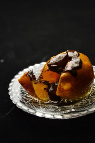 Clémentines confites au chocolat, clémentines, chocolat