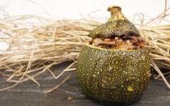 courgette, courgette ronde, champignons