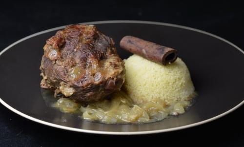 Souris de bœuf confite aux oignons, souris de boeuf, La Cocotte