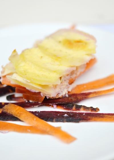 gratin de carottes,carottes,carottes blanches,carottes violettes