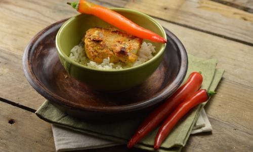Tandoori de poisson au riz, tandoori, poisson, riz