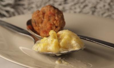 polenta au gorgonzola et boulettes salvia, polenta, gorgonzola, boulettes, sauge