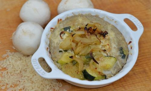 Squash-courgette aux champignons, courgettes, champignons