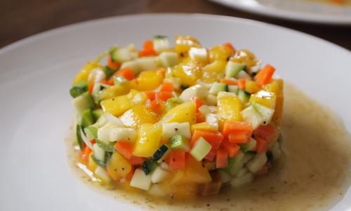 salade multi-vitamines carottes, oranges et mangue, carottes, oranges, mangue