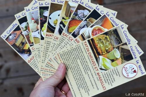 granité pomme kiwi coco,pomme,n kiwi,coco,granité,graines de pavot, cartes postales La Cocotte, Quniquinette, boutique Quniquinette, Florsicope