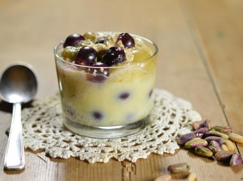 Mini-flans aux 2 raisins, raisin blanc, raisin noir, halva