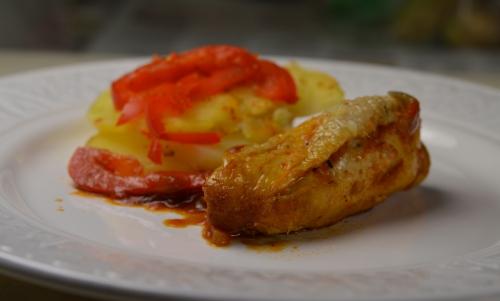Poulet rouge au safran, poulet, safran, Tolède, Consuegra