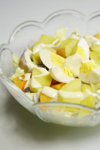 Salade pain de sucre, harengs doux et kakis, la cocotte, la voix du nord