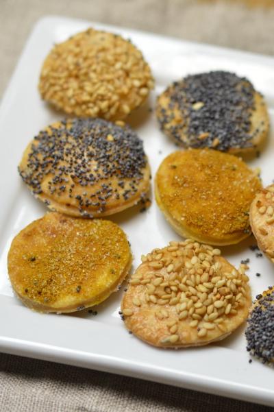 Crackers graines et curry, crackers, graines de sésame, curry