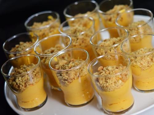 Verrines houmous de carottes aux cacahuètes, houmous, tahineh, carottes, cacahuètes