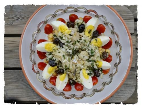 Bacalhau salade, morue, riz, la Cocotte, la Voix du nord