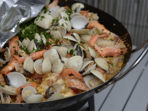 Paella encornets-poulet, la cocotte, la voix du nord