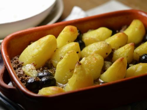 Tian de petites patates au safran, tian, rattes du Touquet, grenaille, baby-potatoes, safran