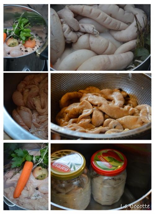 Poisson-poivron, poisson, poivrons, tomates, pommes de terre, tripes de porc