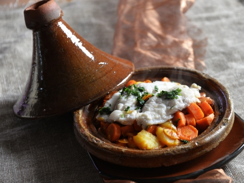 Tajine merlans-carottes, merlan, carottes, la Cocotte, la voix du nord