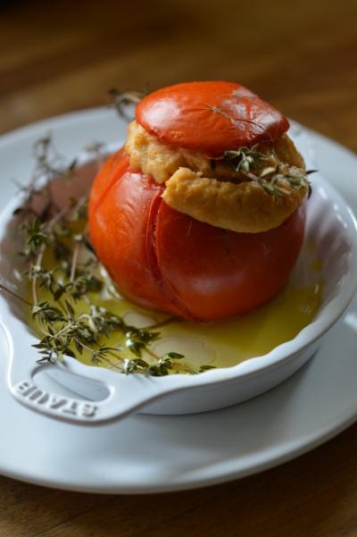 Tomates farcies au chou romanesco, tomates, chou romanesco