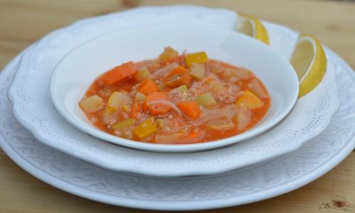 Carottes Belboula, carottes, semoule d'orge, harissa