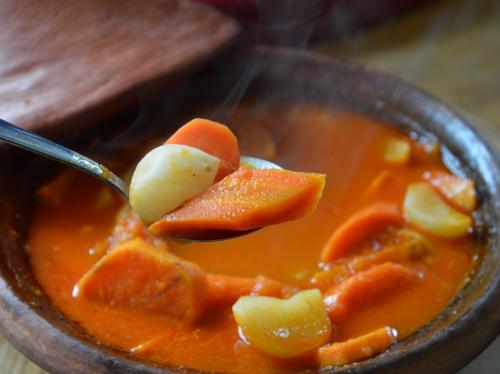 Tajine carottes et navets au gingembre, carottes, navets, gingembre