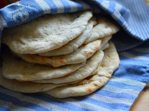 Petits pains grecs au fromage