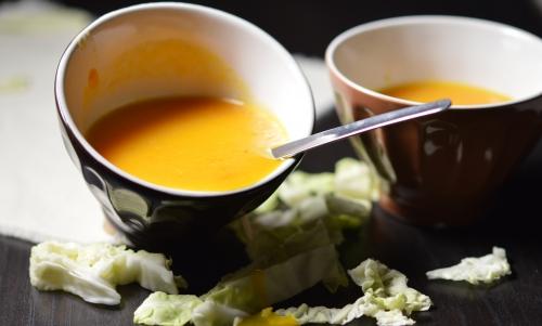 Velouté de carottes au chou, carottes, chou