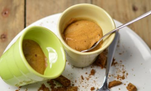 Mousse de biscuits aux épices, biscuits aux épices, La Cocotte