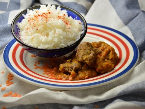 Curry de bœuf aux lentilles rouges, curry, boeuf, carbonnades, lentilles rouges
