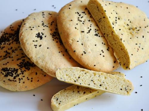 Petits pains-nigelle, pains, semoule, nigelle