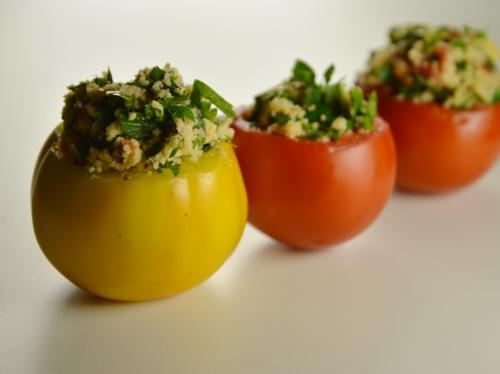 Tomates farcies au taboulé, tomates, taboulé