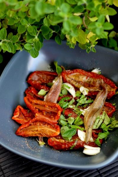 tomates marinées à bruschette,tomates séchées,bruschetta,bruschette