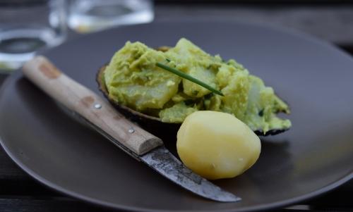 Pommes de terre à la crème d'avocat, pommes de terre, avocat, La Cocotte