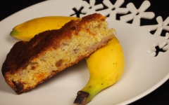 banane, banana cake, cake à la banane