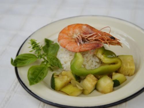 Crevettes de Sète aux p'tits légumes, la cocotte, la voix du nord