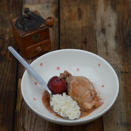 Poulet aux prunes, poulet, prunes, slivovitz