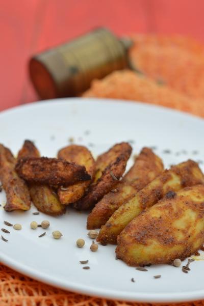 Mumbai patates, pommes de terre, épices