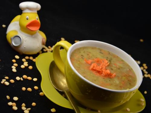 Soupe de pois cassés jaunes, soupe, pois jaunes