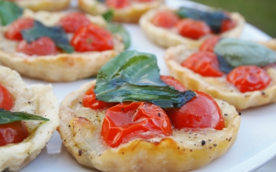 pizzette, margherita, tomates-cerises