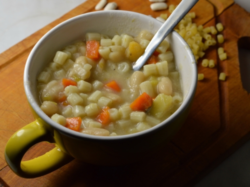 Soupe as'baraque, soupe, lingots