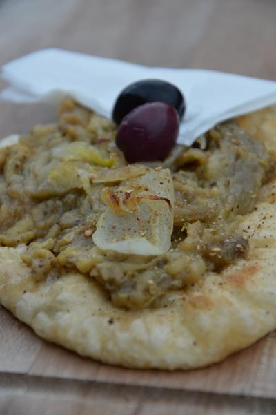 Soufflettes aux aubergines, aubergines, thym libanais