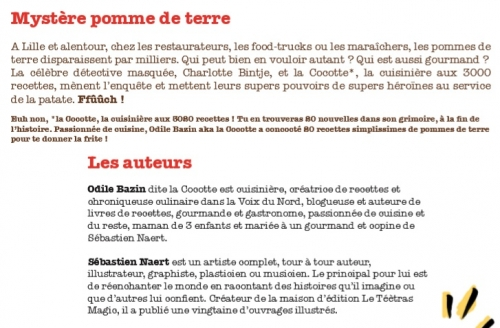 la Cocotte, Charlotte Bintje, les supers enquêtes culinaires de Charlotte Bintje, Sébastien Naert